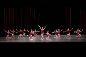 Ashley Bouder, Gonzalo Garcia, and Teresa Reichlen in New York City Ballet's production of RUBIES